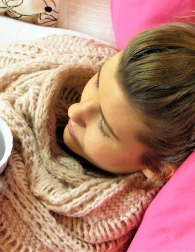 Photo d'une femme fatiguée